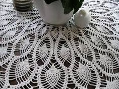 Image result for free crochet round pineapple tablecloth pattern