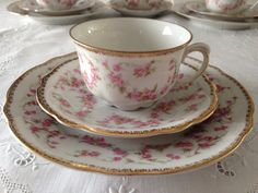 Schumann Dresden Original Bridal Rose Trio Tea Cup