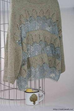 Knitting Machine Patterns, Poncho Knitting Patterns, Knitted Poncho, Lace Knitting, Knitting Stitches, Knitwear Fashion, Knit Fashion, Freeform Crochet, Crochet Lace
