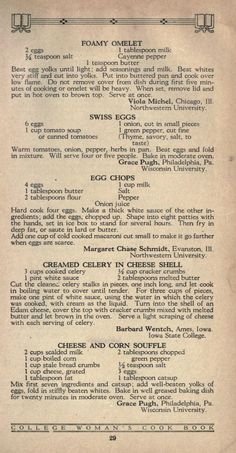 The college woman's cook book Retro Recipes, Old Recipes, Vintage Recipes, Cookbook Recipes, Cooking Recipes, Cooking Ideas, Family Recipes, Healthy Recipes, Swedish Cookies