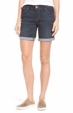 Main Image - Wit & Wisdom Ab-solution Cuffed Denim Shorts (Regular & Petite)(Nordstrom Exclusive)