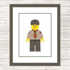 Lego Boy Scout - Child or Adult - Wall Art - Printable Poster - Instant Download
