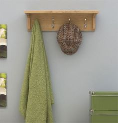Mobel Oak Wall Mounted Coat Rack #oak #furniture #home #decor #interior
