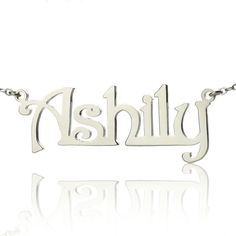 Wholesale Sterling Silver Name Necklace Custom Nameplate Jewelry Harrington Font Bridemaids Pendent