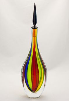 Color Swirl Murano Gocce Vase
