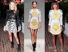 Rosie Huntington-Whiteley in Balmain Spring 2013 & Nicole Richie In Balmain Spring 2013- Balmain LA Dinner Party