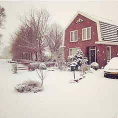 Home in snow