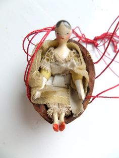 1830's Grodnertal Wooden Doll All Original
