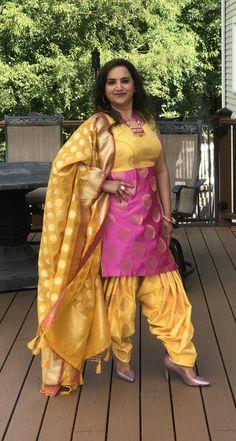 Punjabi Salwar Suits, Patiala Salwar, Indian Outfits, Sari, Skirts, Fashion, Saree, Moda, Skirt