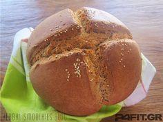 Ψωμί από ζέα My Recipes, Bread Recipes, Recipies, Greek Bread, Greek Cooking, Vegan Bread, Baked Potato, Deserts, Food And Drink