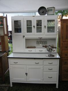 White Vintage Kitchen Hutch Cabinet$75000 Via Etsy For The Delectable White Kitchen Hutch 2018