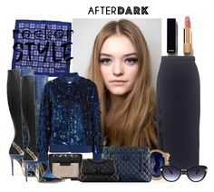 """""""Rocker Style"""" by itgirl2010 ❤ liked on Polyvore featuring Chanel, NARS Cosmetics, Jacquie Aiche, Ashish and Oscar de la Renta"""