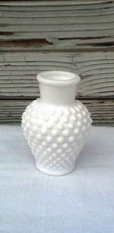 Fenton Hobnail Milkglass Vase by OurSimpleTreasures on Etsy, $15.00