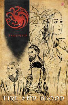 Game of Thrones - House Targaryen by TyrineCarver.deviantart.com