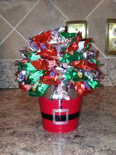 Mini Chocolate Bar Christmas Bouquet