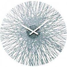 Koziol Silk Wall Clock - Anthracite - unusual grey wall clock