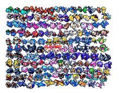 Pokemon Perler-Pick votre propre équipe de 6 + 1 Pokeball (X & Y Pokemon et évolutions Mega dispo) Veuillez lire détails avant de commander