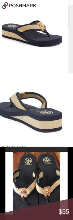"""Tory Burch """"Frankie"""" wedge sandal Super cute Tory Burch sporty sandals Tory Burch Shoes Sandals"""