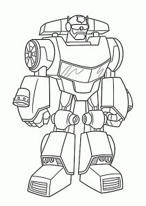 chase bot coloring pages for kids printable free rescue bots - Rescue Bots Coloring Book