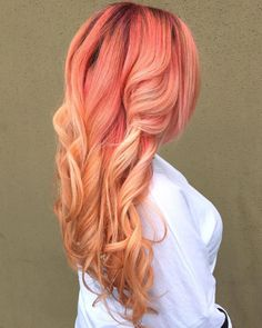 Pink To Strawberry Blonde Ombre Hair