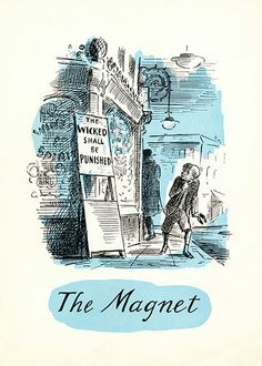 One of my favourite illustrators. Looking at his work takes me straight back to my childhood. Ealing studios: The Magnet pressbook with artwork by Edward Ardizzone