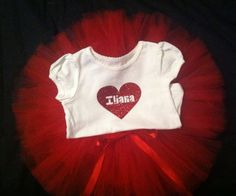 Personalized Valentines tutu outfit on Etsy, $30.00
