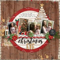 Sweet Shoppe Designs is a full service digital scrapbooking site which offers high quality digital scrapbook products from the industry's top designers. Prim Christmas, Christmas Photos, Christmas Crafts, Father Christmas, Retro Christmas, Christmas Trees, Christmas Layout, Xmas, Scrapbook Layout Sketches