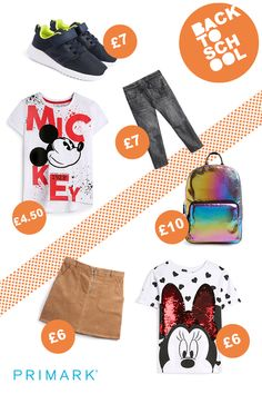 With the new school term just around the corner we've got you covered with all of the back to school essentials. Back To School Essentials, Back To School Outfits, Trendy Outfits, Kids Outfits, Fashion News, Kids Fashion, Versatile Denim, The New School, Primark