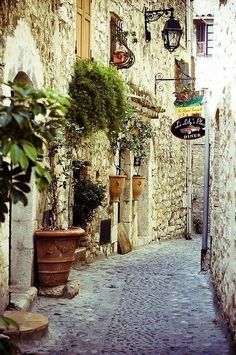 | ♕ |  Old passage in Eze, Provence  | via...