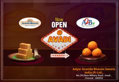 Wow!!!! Calls for Big Celebration... Adyar Ananda Bhavan now open at Avadi... Come, dine with us and make our opening a special.