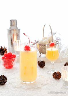 Modern Snowball Cocktail
