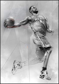 Lebron James, Nike House Of Hoops by Alexis Marcou, via Behance