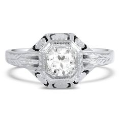 18K White Gold The Ballina Ring from Brilliant Earth