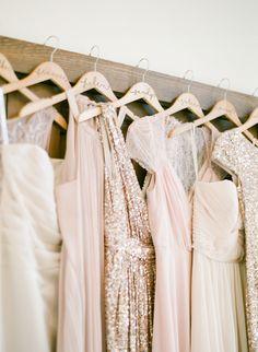 bridesmaid hangers #customhangers @weddingchicks                                                                                                                                                     More