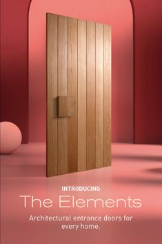 Introducing Elements, our new collection of architectural entrance doors crafted to add a touch of elegance to any façade. Explore the versatile vertical planked design that creates a sense of grandeur in any setting, from coastal to inner-city. House Doors, House Entrance, Entrance Doors, Residential Building Design, House Makeovers, Open Plan Kitchen Living Room, Shed Homes, Front Door Design, The Design Files