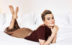 Download wallpapers Taylor Schilling, portrait, smile, american actress, beautiful woman
