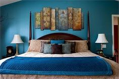 I am really into peacock blue for a bedroom color.