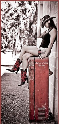 Just a neat photo. Nothing to do with topic except her boots and hat.