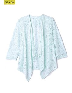 From the classic biker and denim, to more formal, office - suited styles and lighter cardis and covers - you'll find what you're looking for right here! Aqua, Kimono Top, Cover Up, Suits, Denim, Formal, Lace, Sweaters, Jackets