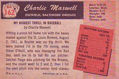 1955 Bowman #162 Charlie Maxwell Back