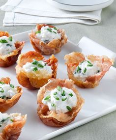 Healthier holiday entertaining: Prosciutto Cups with Goat Cheese Mousse | This Mama Cooks! On a Diet™