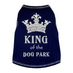 King of the Dog Park Navy Blue Dog Shirt