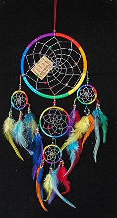 Rainbow Dream Catcher 5 Circles 6.5 Mix Color Feathers exoticdream http://www.amazon.com/dp/B00XAMRBCK/ref=cm_sw_r_pi_dp_WNsBvb1M685V7