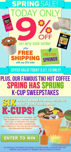 Community Coffee Tiki Hut Culture Spring Coupon Coupons