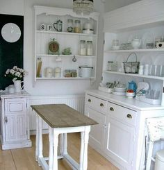 Browse photos of Freestanding Kitchen Cabinets Ideas. Find ideas and inspiration to add to your own home. See more ideas about Standing kitchen and Kitchen pantry cupboard. Kitchen Furniture, Fishermans Cottage, Free Standing Kitchen Cabinets, Freestanding Kitchen, Kitchen Pantry Cabinets, Kitchen Stand, Country Kitchen, Home Kitchens, Country Chic Kitchen