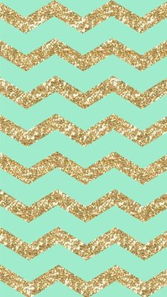Freebie: Gold Glitter & Mint Chevron iPhone 6 Wallpaper! | design ...