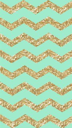 Freebie: Gold Glitter & Mint Chevron iPhone 6 Wallpaper! | design ...
