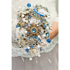 brooch bouquet, bursts of colour