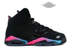 sneakers for cheap 2d5b2 d8bf7 Air Jordan 6 VI Retro - Baskets Jordan Pas Cher Chaussure Nike Pour Femme  Air…