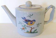 Queen's Bird Spode Teapot | Chairish